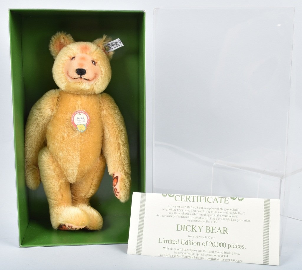 STEIFF DICKY BEAR 1930 REPLICA NMIB