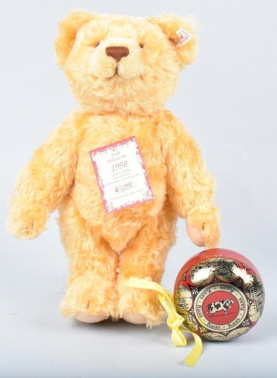 STEIFF HOLLAND CHEESE BEAR LTD ED NMIB - 2