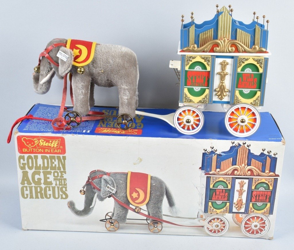 5-Pc STEIFF GOLDEN AGE of the CIRCUS WAGON SET NMB - 2