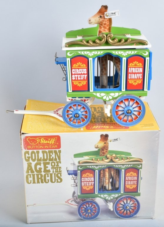 5-Pc STEIFF GOLDEN AGE of the CIRCUS WAGON SET NMB - 3