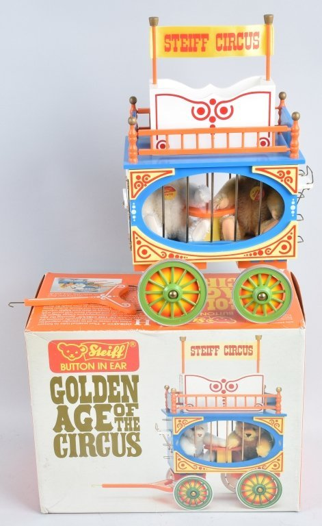 5-Pc STEIFF GOLDEN AGE of the CIRCUS WAGON SET NMB - 4