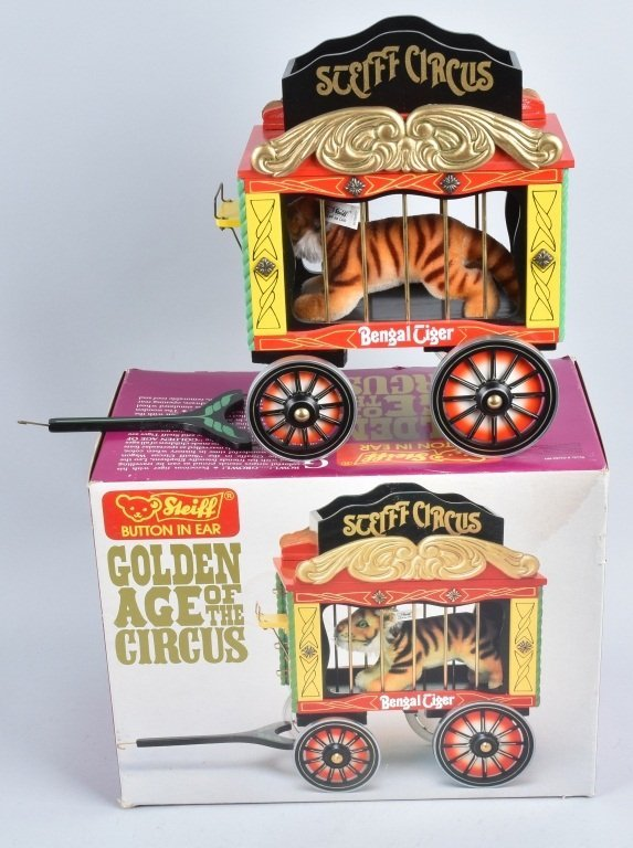 5-Pc STEIFF GOLDEN AGE of the CIRCUS WAGON SET NMB - 5