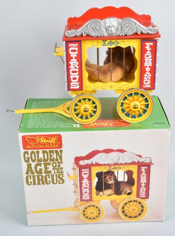 5-Pc STEIFF GOLDEN AGE of the CIRCUS WAGON SET NMB - 6