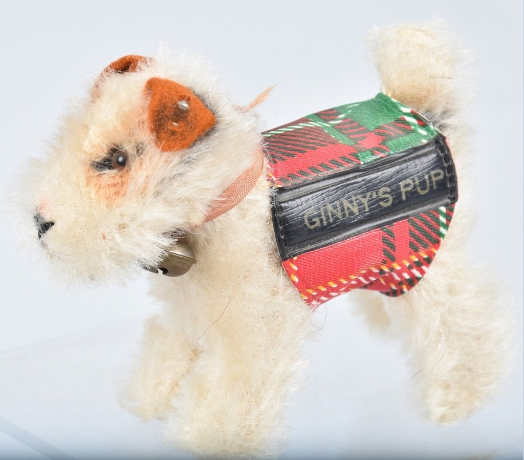 "STEIFF VINTAGE VOGUE GINNY''S PUP ""SPARKY"" NMIB - 5"