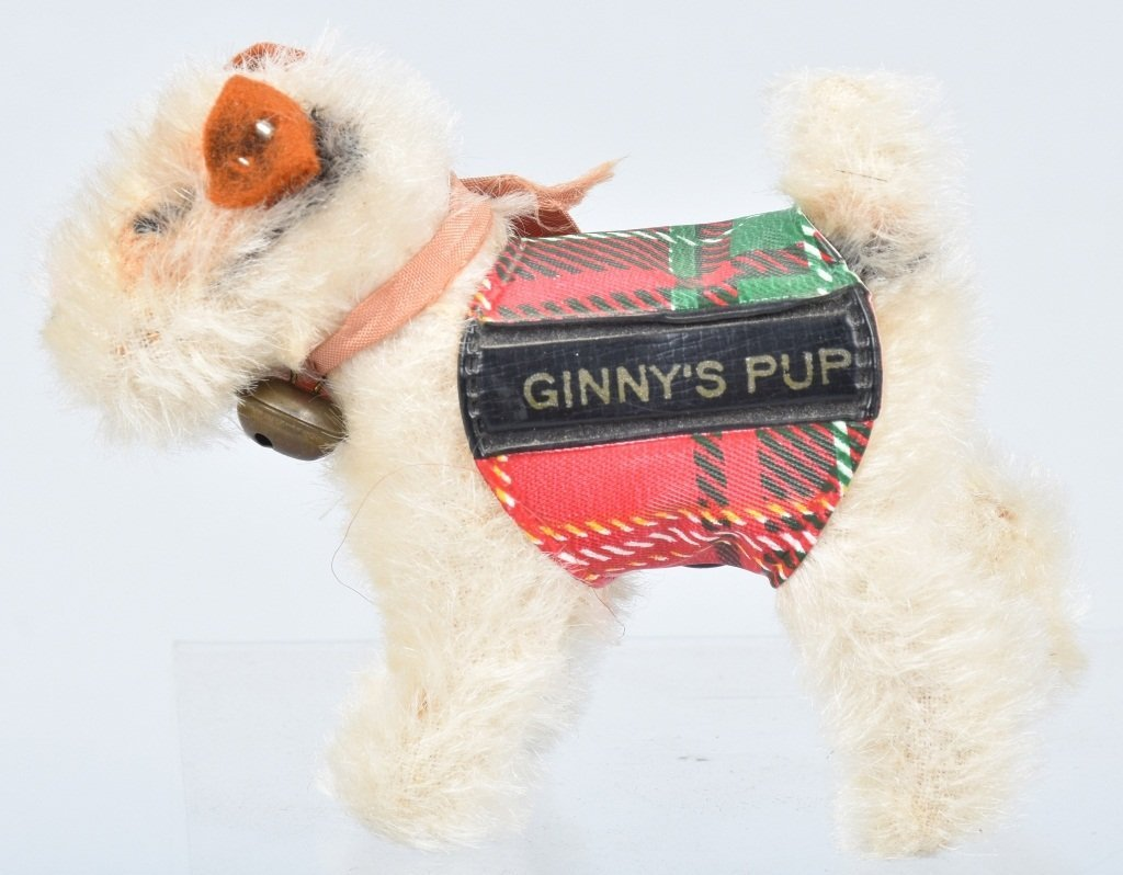 "STEIFF VINTAGE VOGUE GINNY''S PUP ""SPARKY"" NMIB - 6"