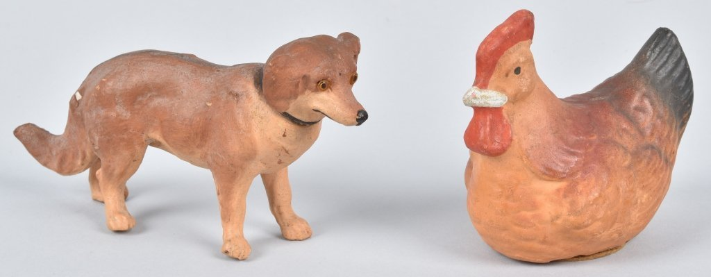 TWO FIGURAL CANDY CONTAINERS