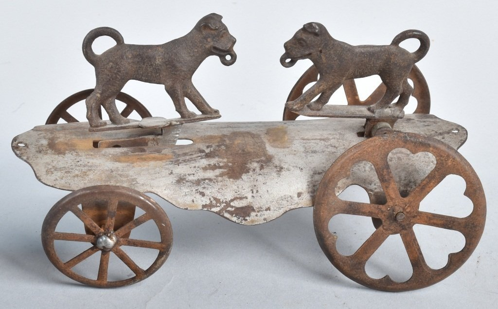 WATROUS 2 DOGS PLATFORM BELL TOY