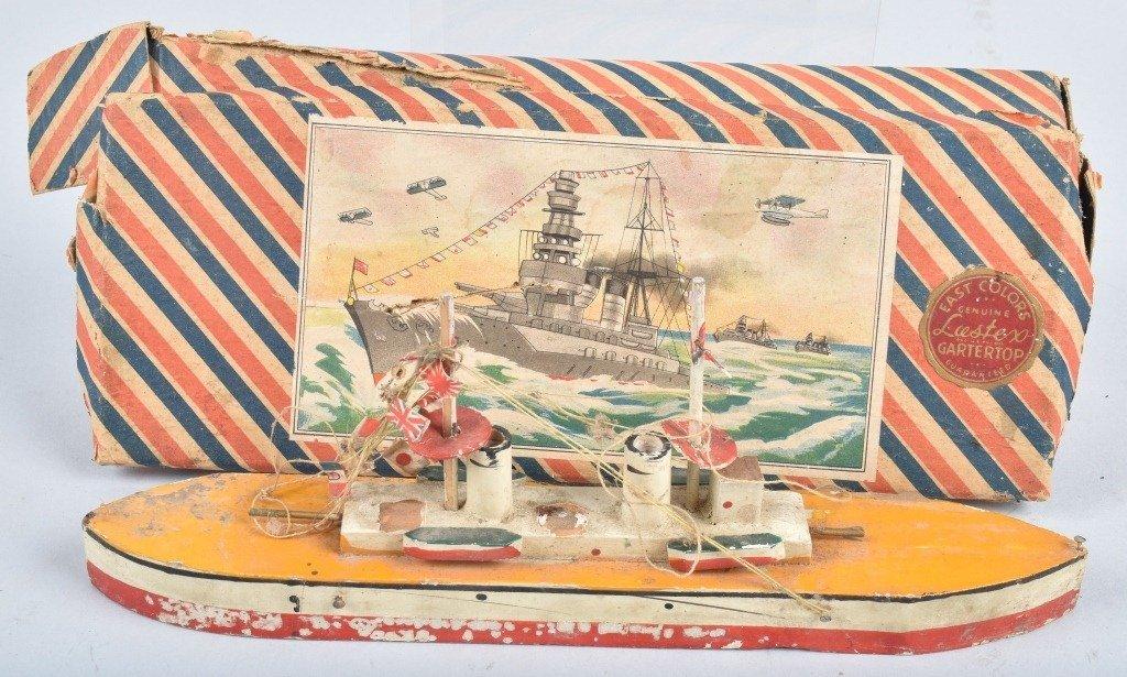 Pre-War Japan WOODEN BATTLESHIP w/ BOX