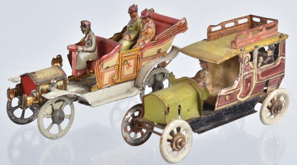 2- GERMAN PENNY TOYS AUTOMOBILES