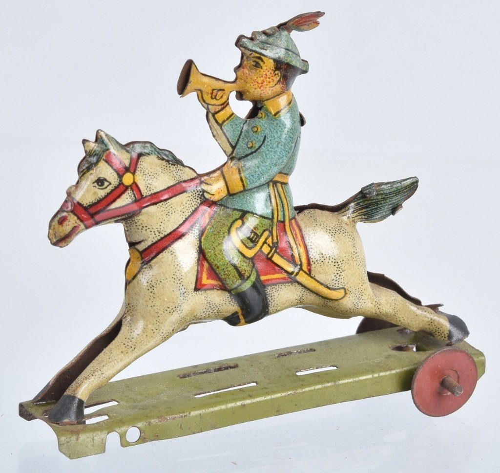2- GERMAN PENNY TOYS HANDSOME CAB & HORSE - 2