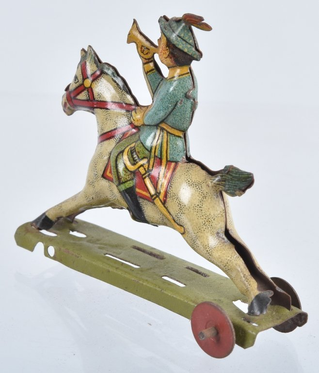 2- GERMAN PENNY TOYS HANDSOME CAB & HORSE - 3