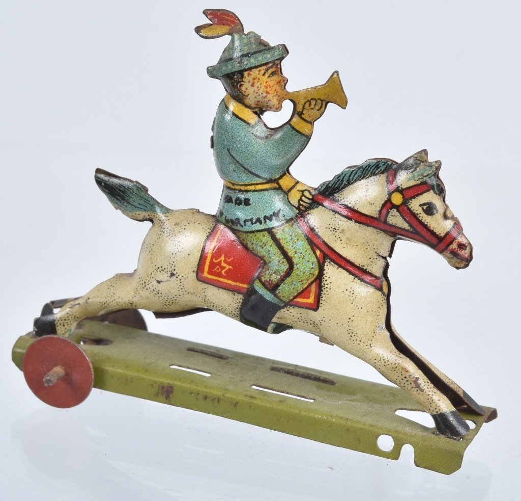 2- GERMAN PENNY TOYS HANDSOME CAB & HORSE - 4