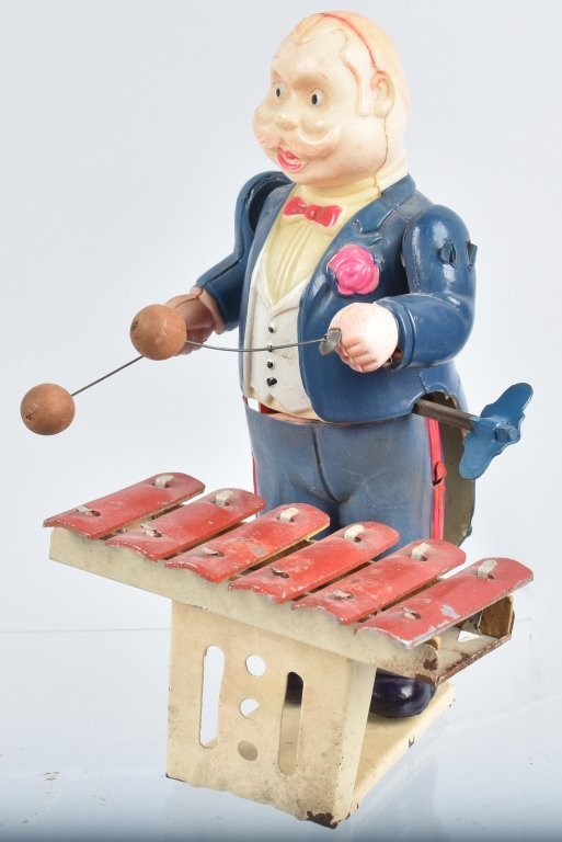 JAPAN Celluloid Windup XYLOPHONE PLAYER