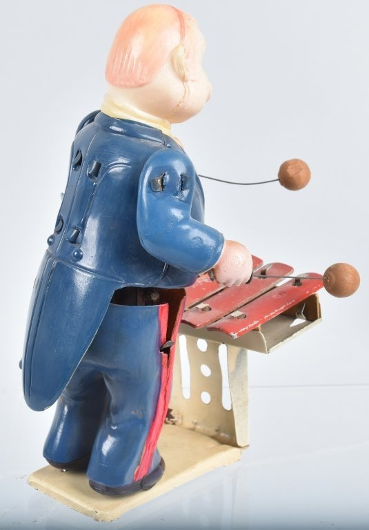 JAPAN Celluloid Windup XYLOPHONE PLAYER - 3