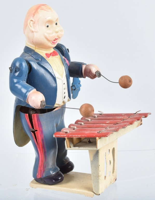 JAPAN Celluloid Windup XYLOPHONE PLAYER - 4