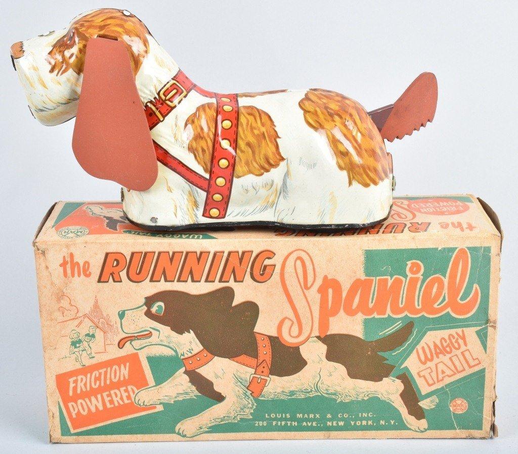 MARX Tin Friction RUNNING SPANIEL w/ BOX