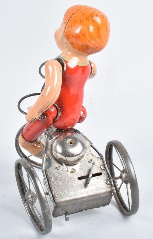 MARX Tin Windup WONDER CYCLIST w/ BOX - 2