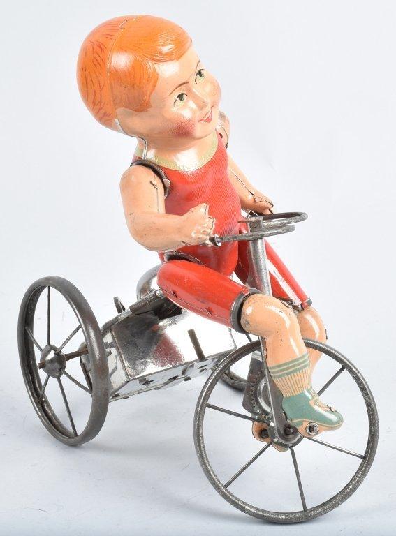 MARX Tin Windup WONDER CYCLIST w/ BOX - 4