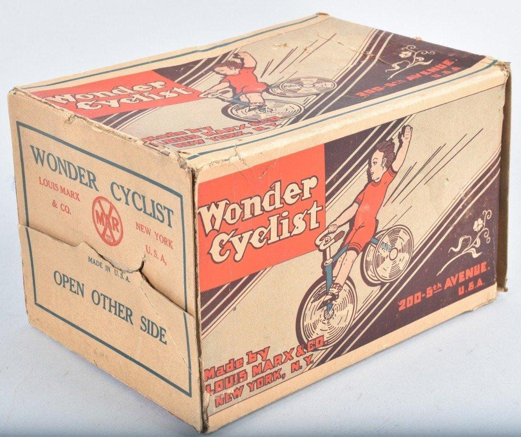 MARX Tin Windup WONDER CYCLIST w/ BOX - 5
