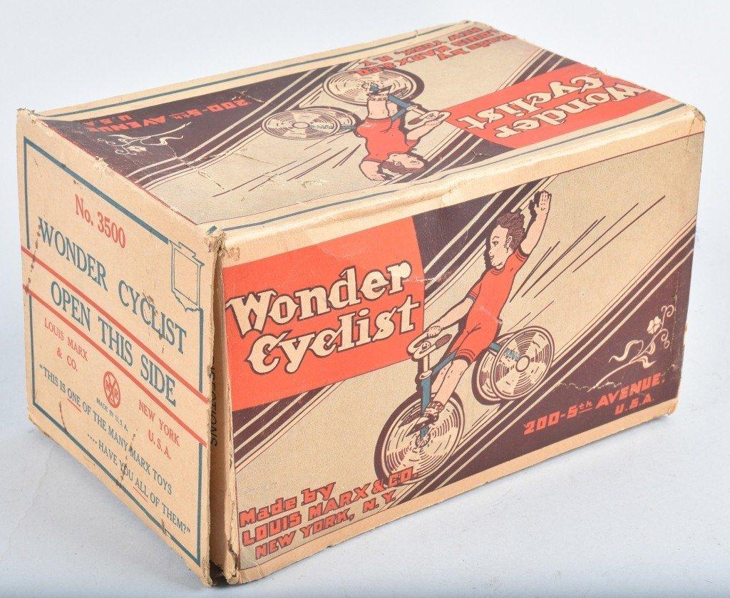 MARX Tin Windup WONDER CYCLIST w/ BOX - 6