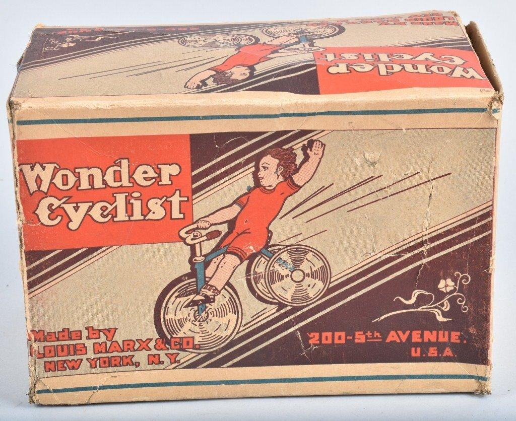 MARX Tin Windup WONDER CYCLIST w/ BOX - 7