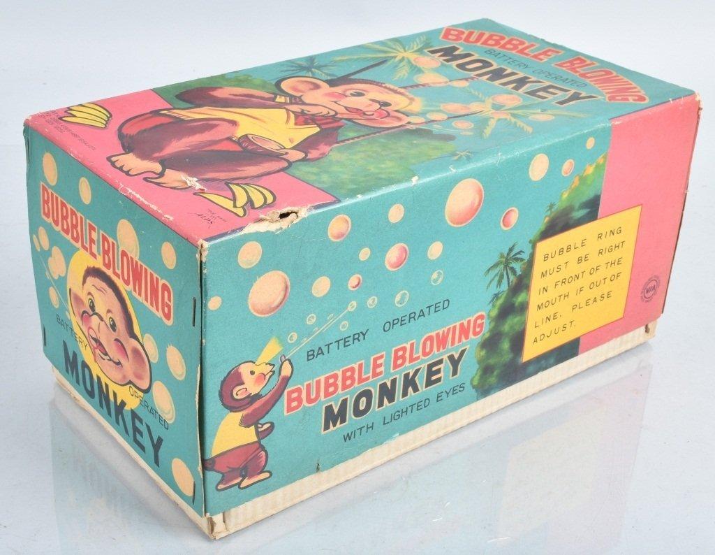 ALPS Battery Op BUBBLE BLOWING MONKEY w/ BOX - 8