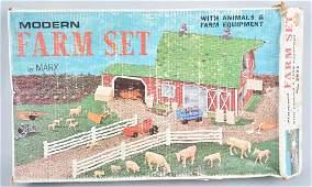 MARX MODERN FARM PLAY SET w BOX