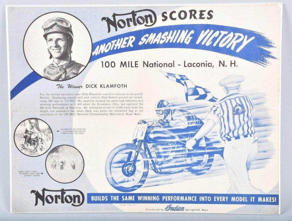 NORTON SCORES RACING POSTER