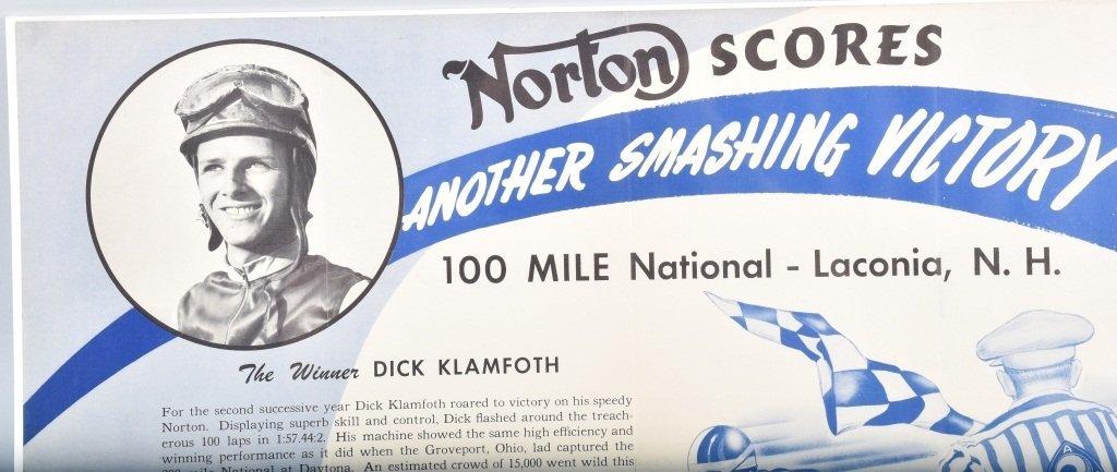 NORTON SCORES RACING POSTER - 2