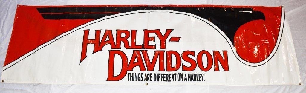 HARLEY DAVIDSON LARGE VINYL DEALER SIGN