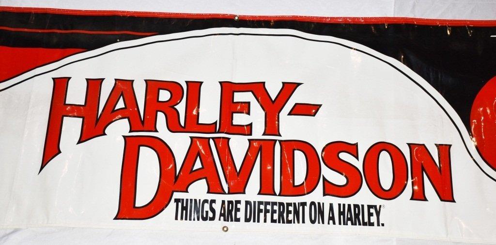 HARLEY DAVIDSON LARGE VINYL DEALER SIGN - 2