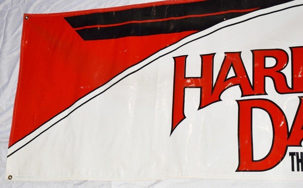 HARLEY DAVIDSON LARGE VINYL DEALER SIGN - 4