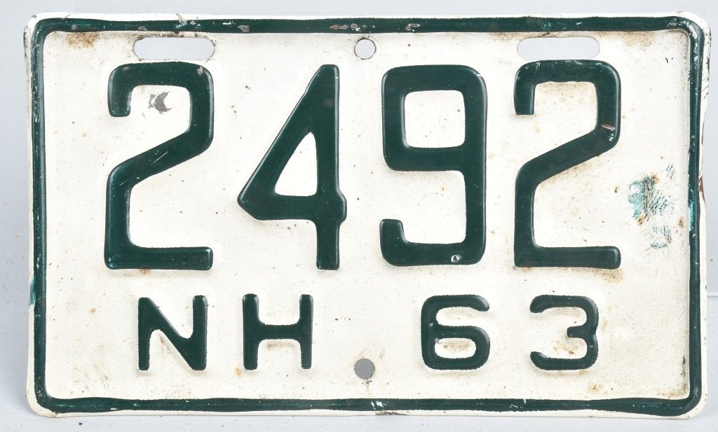 1963 NEW HAMPSHIRE MOTORCYCLE LICENSE PLATE