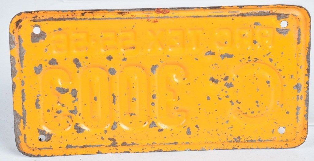 TEXAS 1955-56 RRC MOTORCYCLE LICENSE PLATE - 2