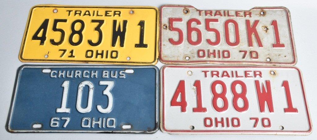 LOT OF 11 MISC. AUTO LICENSE PLATES, OHIO & MORE - 2