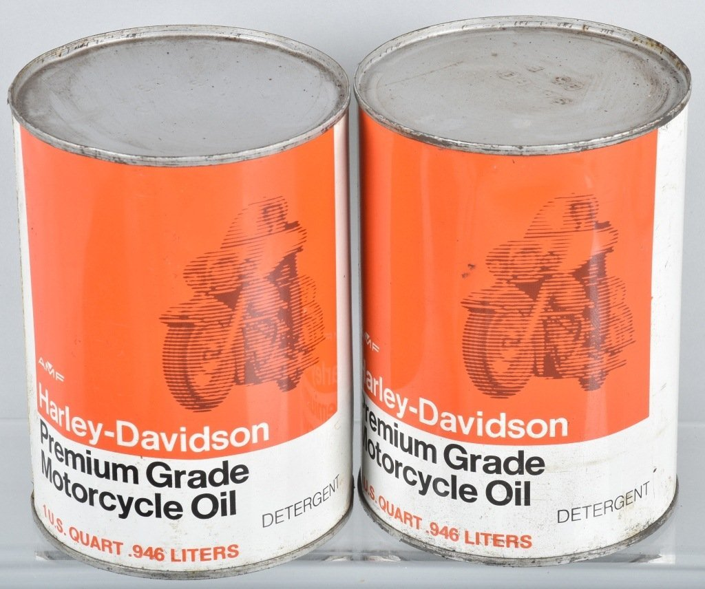 LOT OF 4  HARLEY DAVIDSON AMF OIL CANS - 2