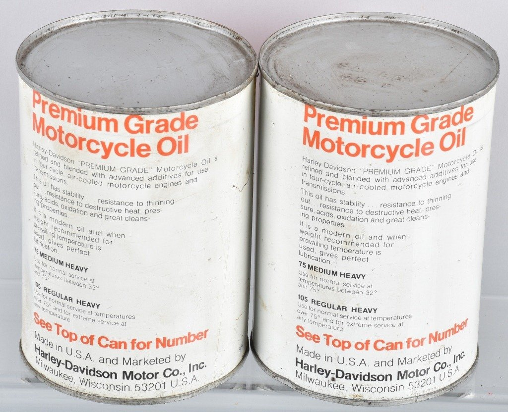 LOT OF 4  HARLEY DAVIDSON AMF OIL CANS - 3
