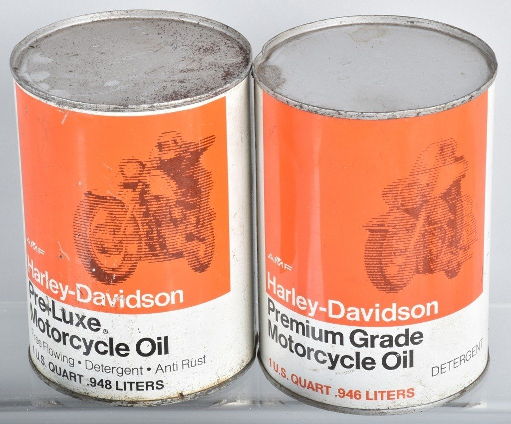 LOT OF 4  HARLEY DAVIDSON AMF OIL CANS - 4