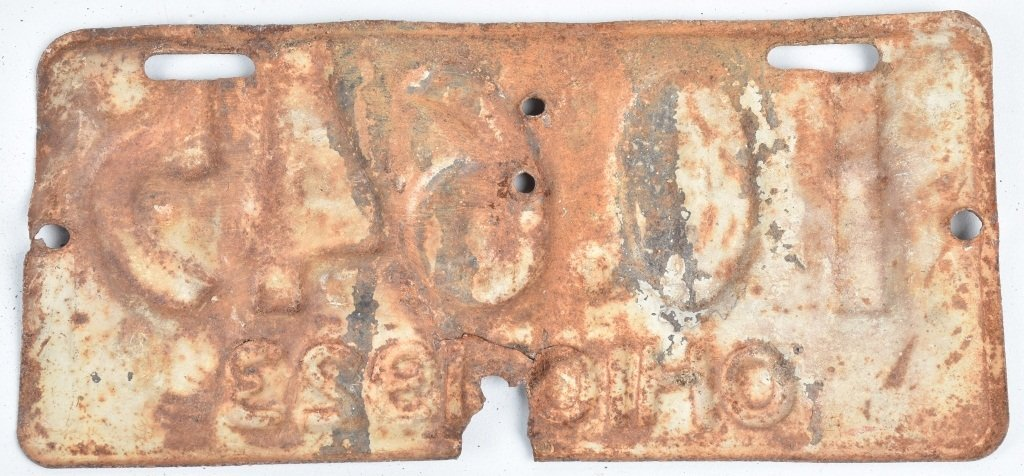 1923 OHIO MOTORCYCLE LICENSE PLATE - 2