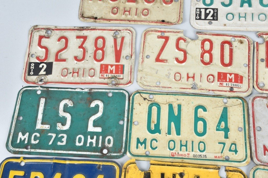 LOT OF 14 OHIO MOTORCYCLE LICENSE PLATES - 2