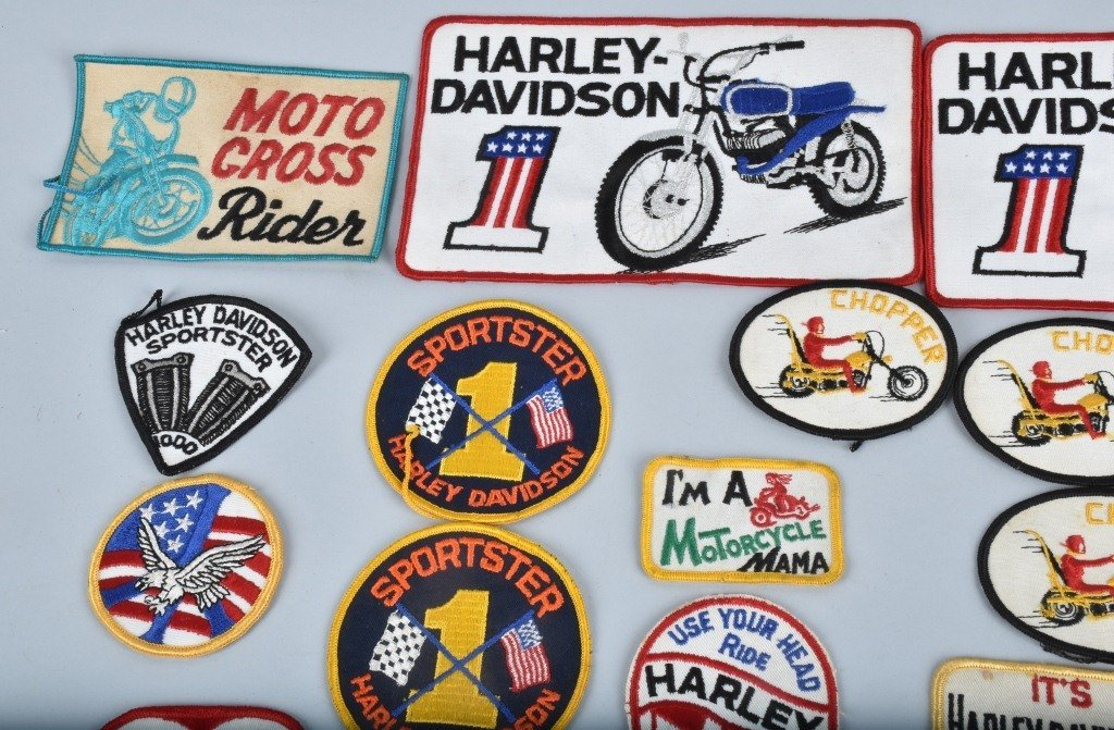 LOT OF 25 HARLEY DAVIDSON  PATCHES, VINTAGE - 2
