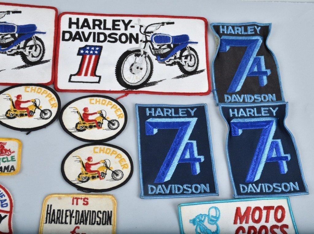 LOT OF 25 HARLEY DAVIDSON  PATCHES, VINTAGE - 3