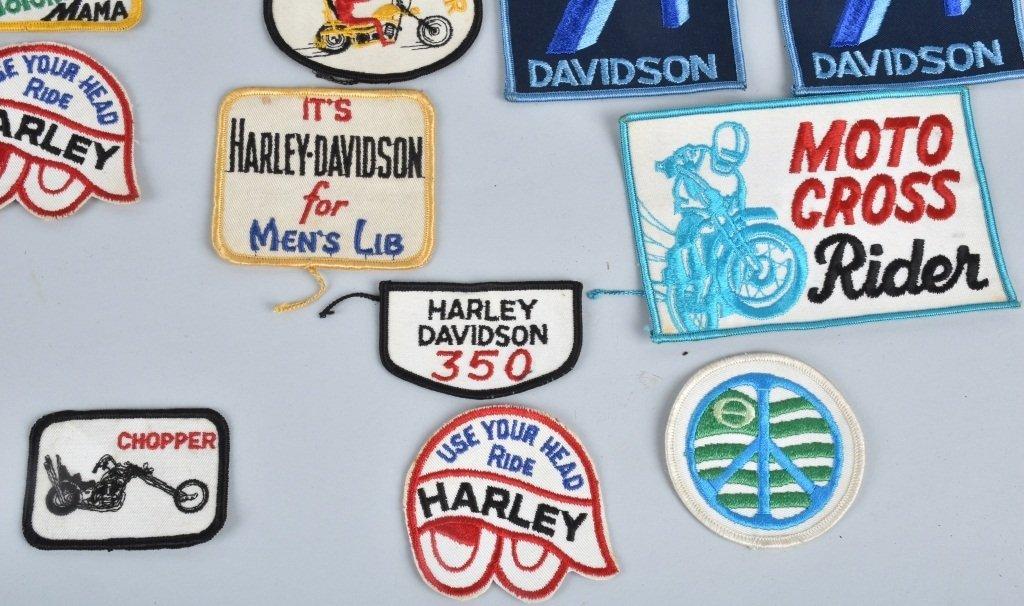 LOT OF 25 HARLEY DAVIDSON  PATCHES, VINTAGE - 4