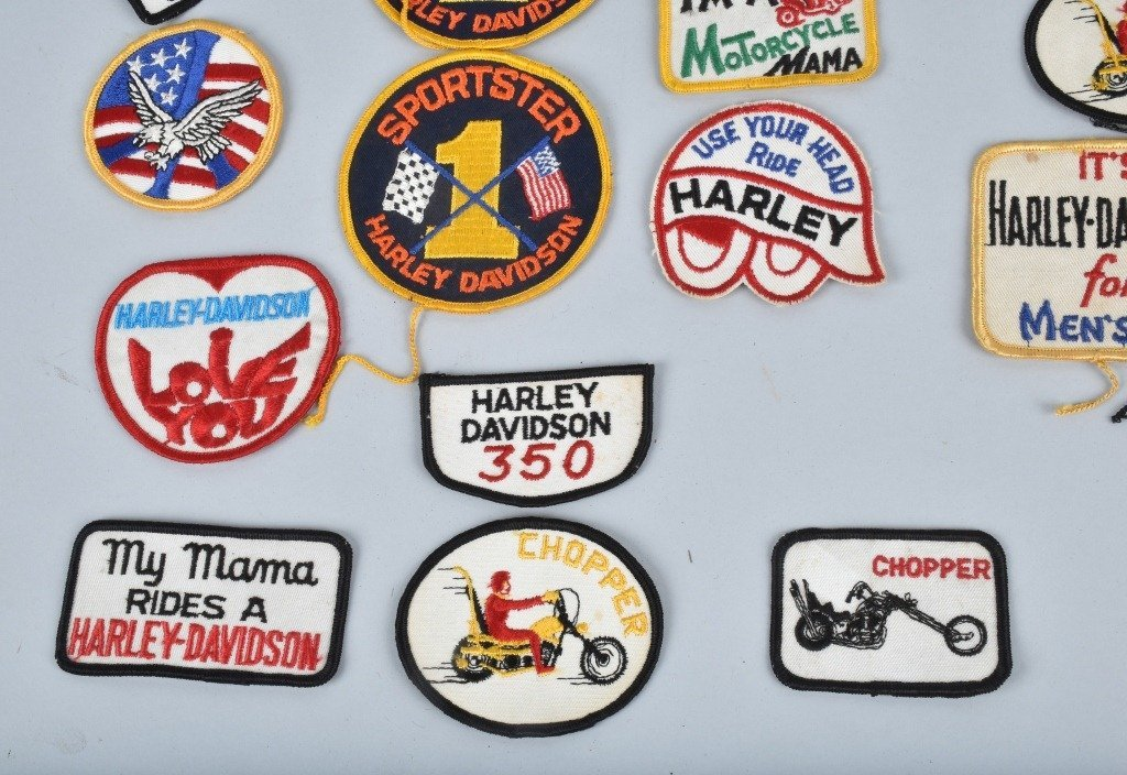 LOT OF 25 HARLEY DAVIDSON  PATCHES, VINTAGE - 5