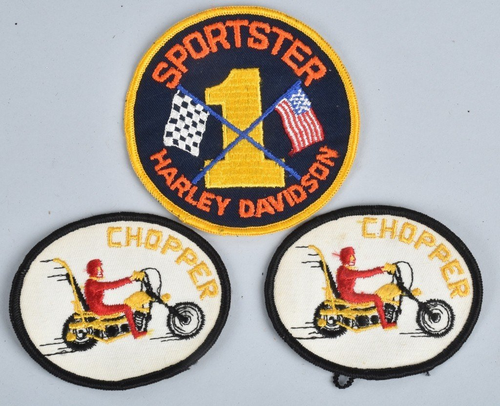 LOT OF HARLEY DAVIDSON PATCHES & SHIRTS, VINTAGE - 3