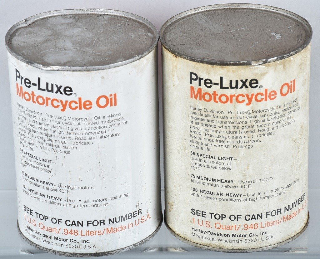 LOT OF 4  HARLEY DAVIDSON AMF PRE-LUXE OIL CANS - 3
