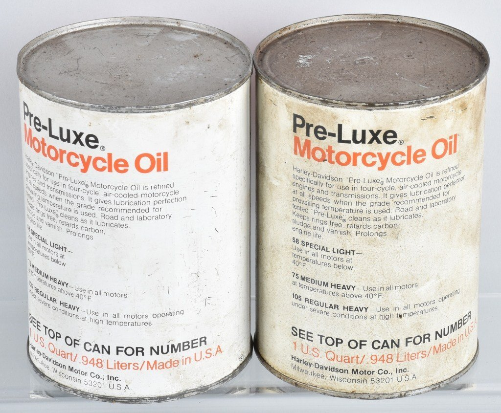 LOT OF 4  HARLEY DAVIDSON AMF PRE-LUXE OIL CANS - 5