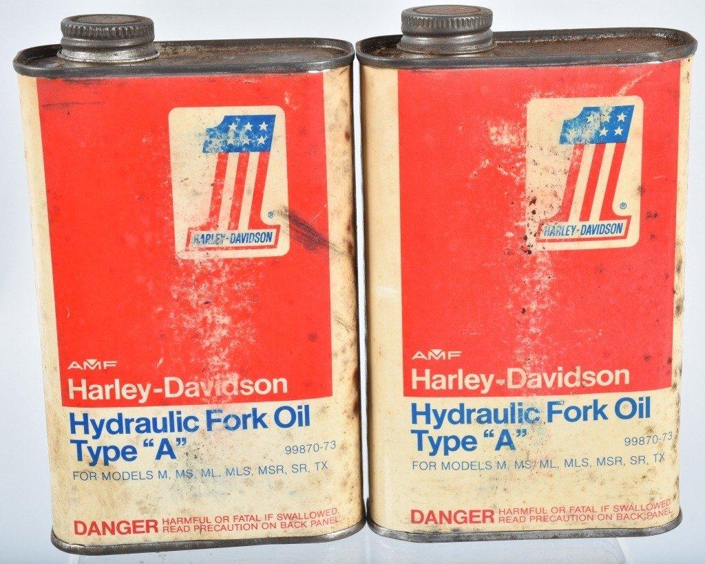 2-HARLEY DAVIDSON  TYPE  A,  FORK OIL CANS