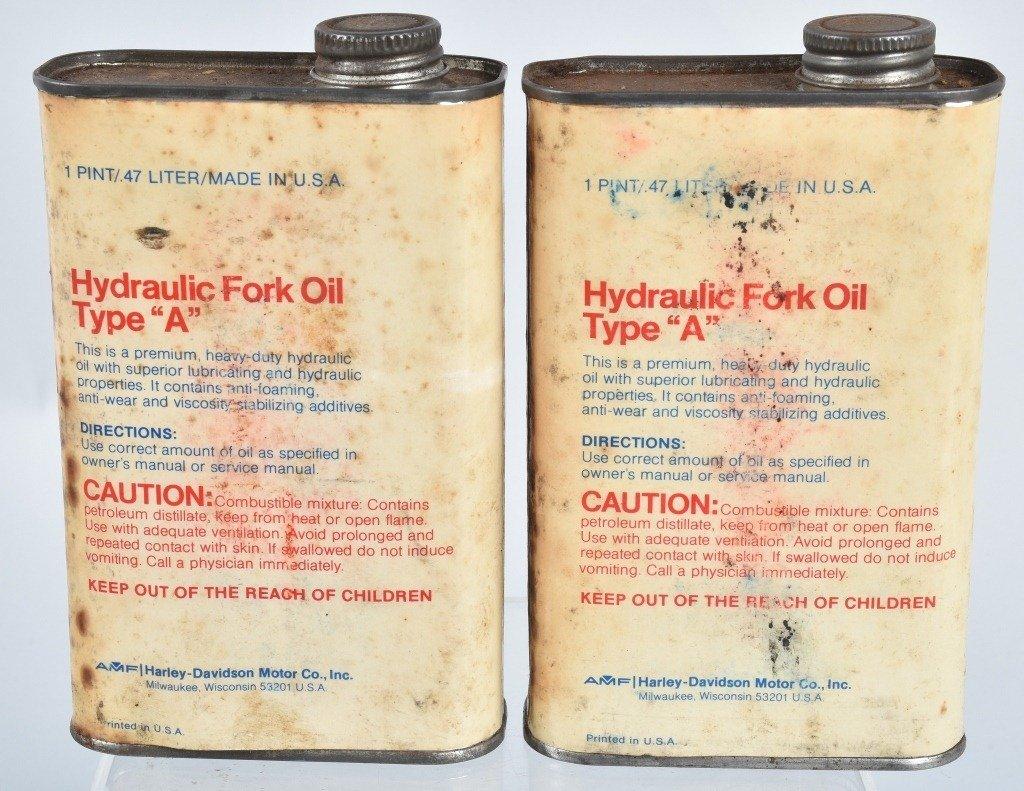 2-HARLEY DAVIDSON  TYPE  A,  FORK OIL CANS - 2