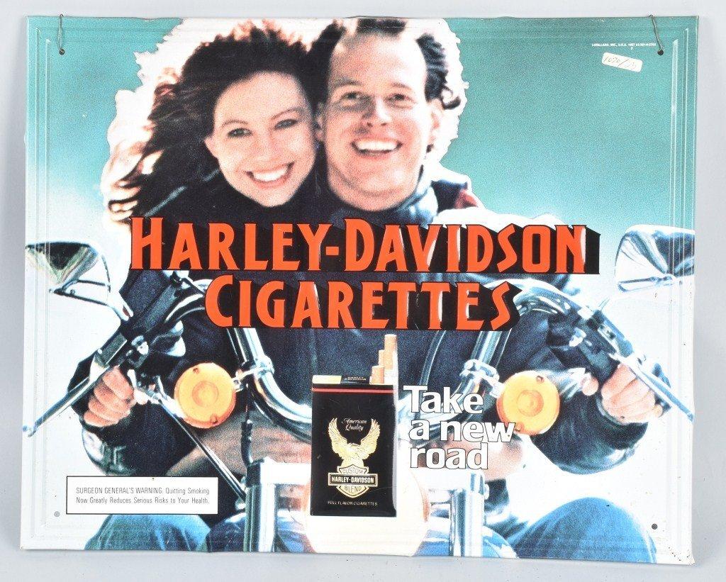 HARLEY DAVIDSON CIGARETTE ADVERTISING SIGN